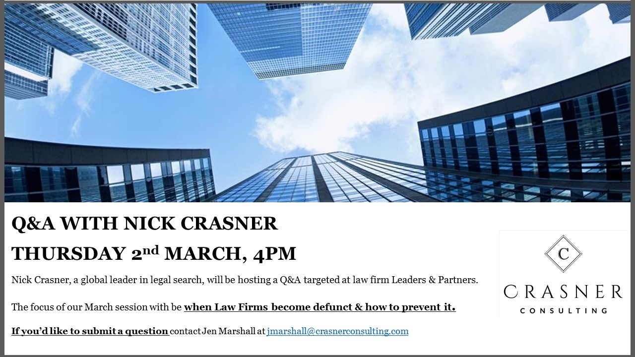 Q&A With Nick Crasner – Thursday 2nd March