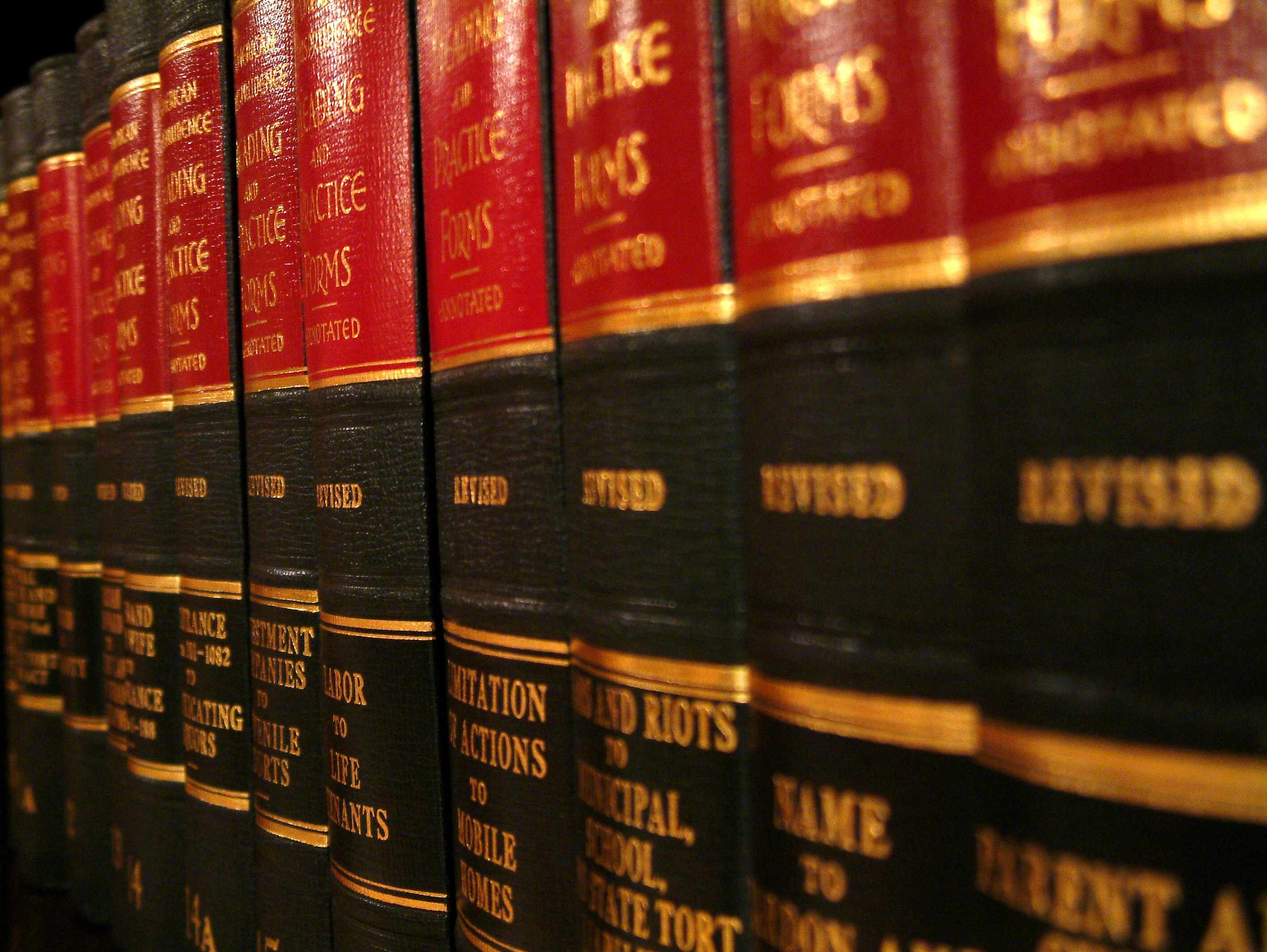 image of selection of law books