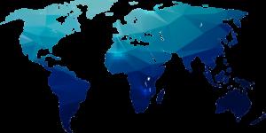 image of blue world map