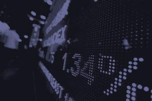 image of stock market board