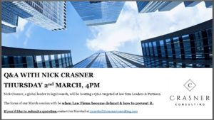 announcement about the question and answer with Nick Crasner