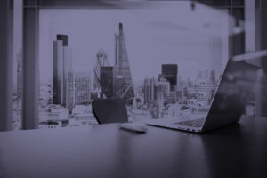 image of London from an office