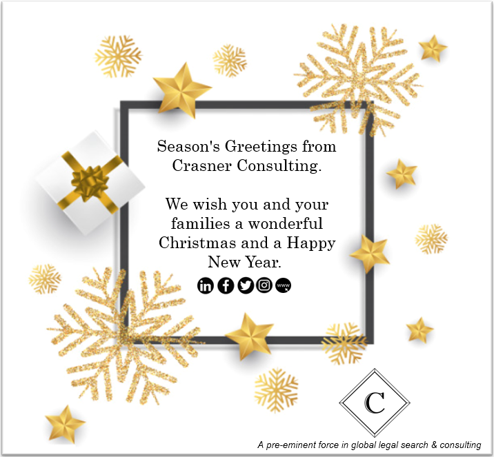Season's greetings and best wishes for the new year, from the Crasner Consulting family to yours.