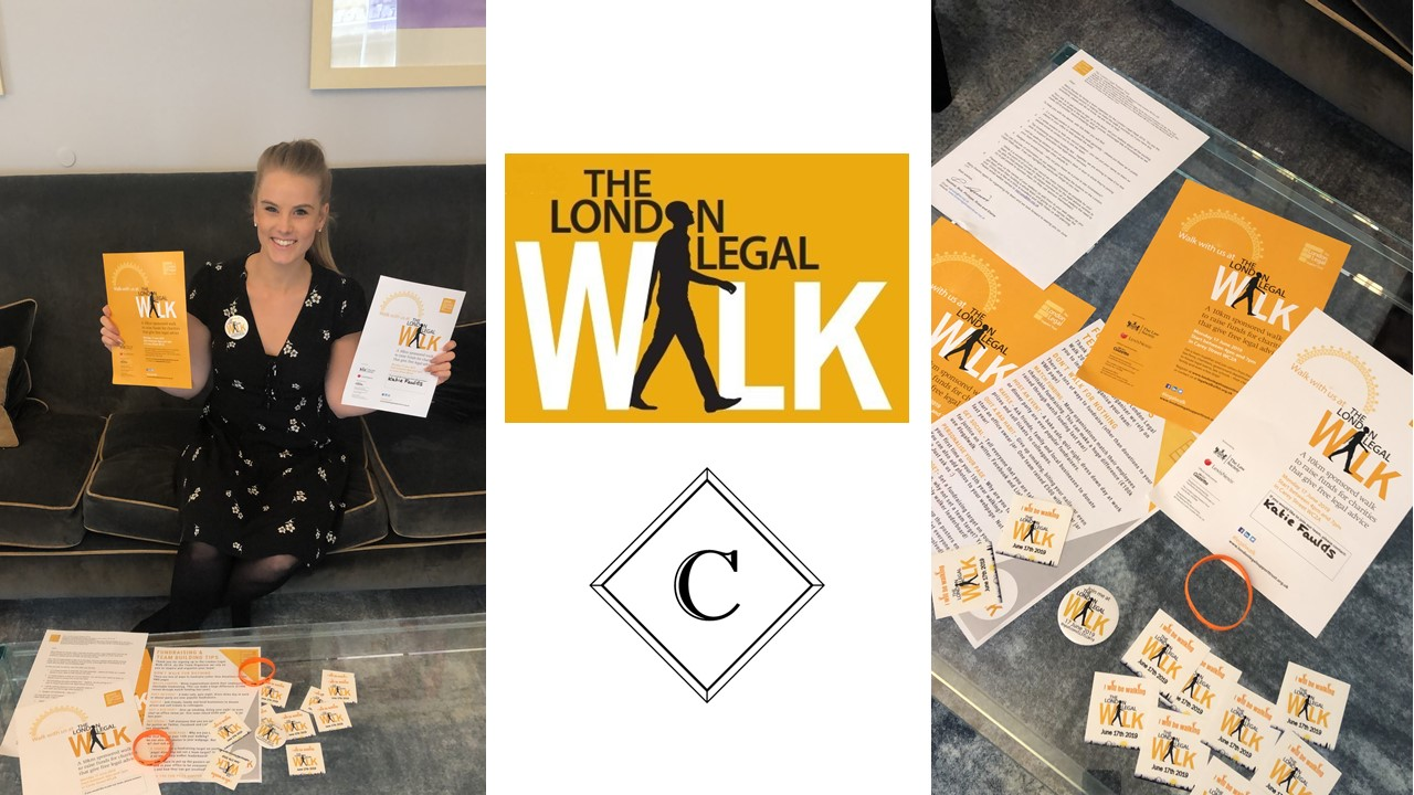 Crasner Consulting is proud to be taking part in this year's London #legalwalk on Monday 17th June